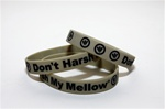 Don't Harsh My Mellow Rubber Wristband