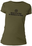 Harsh is to Ying as Mellow is to Yang Fitted Women's T-Shirt