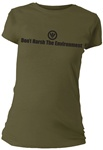 Don't Harsh The Environment Fitted Women's T-Shirt