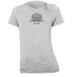 Lotus Flower Fitted Women's T-Shirt