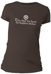 Thou Shalt Not Thy Neighbors Mellow Fitted Women's T-Shirt