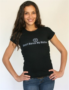 Don't Harsh My Mellow Fitted Women's T-Shirt